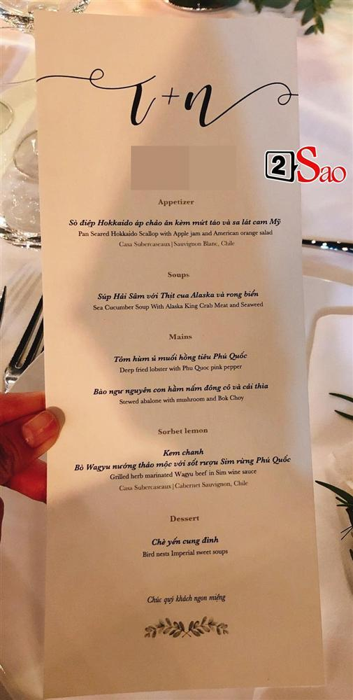 Thực đơn sơn hào hải vị trong đám cưới Đông Nhi-1
