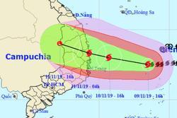 Bão số 6 cách Quảng Ngãi - Khánh Hòa 450km, mưa lớn từ đêm nay