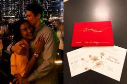 CUỐI NGÀY VẪN HOT: Hoàng Oanh cưới bạn trai tây, thiệp mời đã tới tay bạn bè