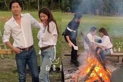 Siêu mẫu Lâm Chí Linh chụp ảnh cưới với sơ mi trắng