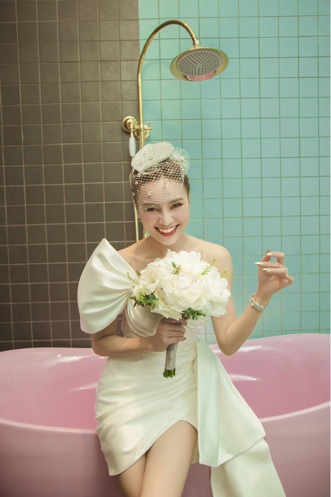 Lan Ngọc mặc áo cưới, tuyên bố muốn lấy chồng-3