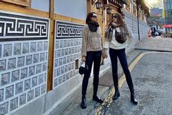 Cặp đôi tin đồn Kỳ Duyên - Minh Triệu nắm chặt tay nhau tại xứ sở kim chi