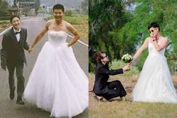 Mùa cưới đến, dân mạng đang phát sốt với bộ ảnh 'hoán đổi giới tính' có 1-0-2 của đôi bạn trẻ