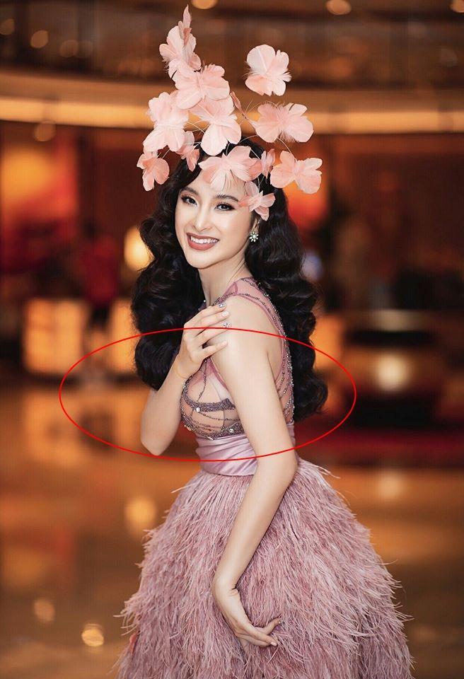 Tái xuất Vbiz, Angela Phương Trinh chơi lớn đội cả rừng hoa nhưng lộ miếng dán ngực lù lù-1