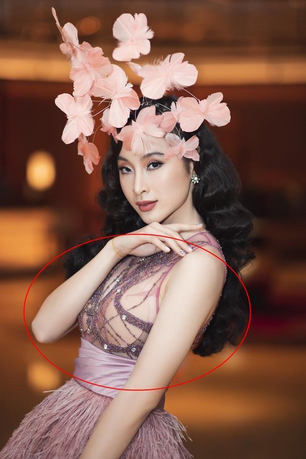 Tái xuất Vbiz, Angela Phương Trinh chơi lớn đội cả rừng hoa nhưng lộ miếng dán ngực lù lù-2