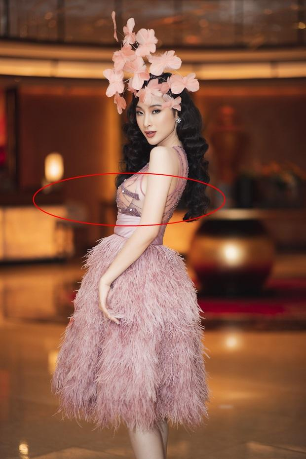 Tái xuất Vbiz, Angela Phương Trinh chơi lớn đội cả rừng hoa nhưng lộ miếng dán ngực lù lù-3