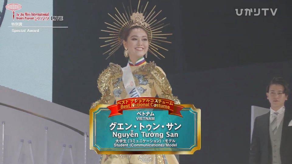 Tường San trượt top 5 gây tiếc nuối, Thái Lan đăng quang Miss International 2019-2