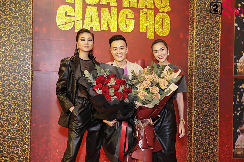 Thanh Hằng tái ngộ Hà Tăng trên thảm đỏ ra mắt phim đầu tay của Lương Mạnh Hải và Minh Tú-4
