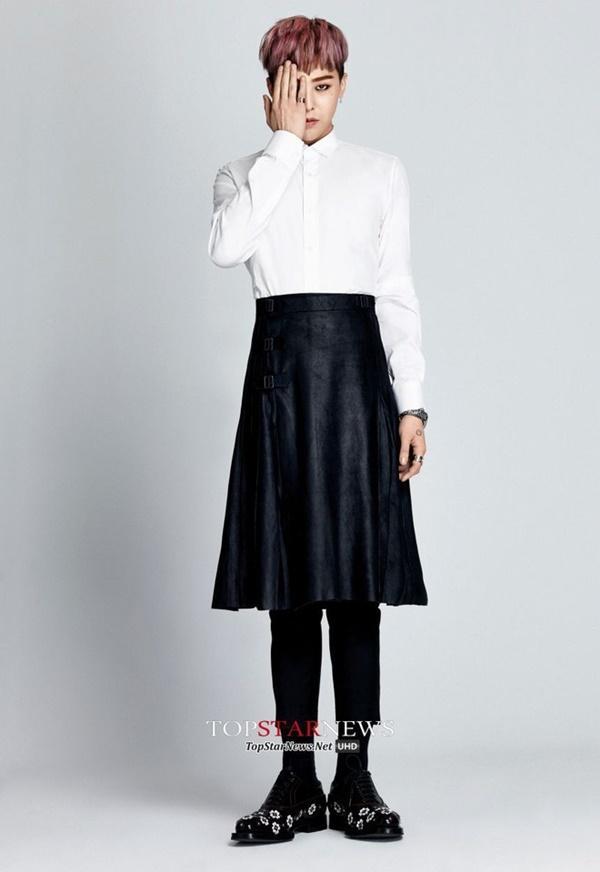 G-Dragon luôn được khen dù mặc váy dài hay quần áo khó hiểu-10