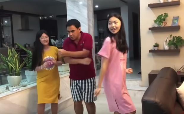 Dạy nhảy cho đại gia đình nhưng ai cũng chỉ chú ý đến nhan sắc đẹp chuẩn hotgirl của con gái cả MC Quyền Linh-2