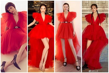 Một chiếc váy có tới chục lần 'đụng hàng' từ Á đến Âu: Người mặc đẹp nhất không ai qua nổi Hương Giang