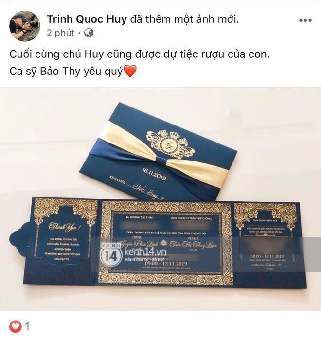 Điểm danh 5 nghệ sĩ được Bảo Thy mời dự cưới: Ngô Kiến Huy đăng thiệp đầu tiên, 4 người còn lại không khó tìm-11