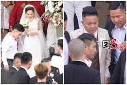 Bảo Thy chọn áo dài trắng phối ren, chú rể hack tuổi bằng kiểu tóc undercut trong lễ cưới tại nhà thờ
