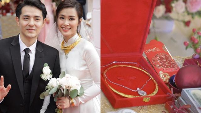 Mỹ nhân Việt lấy chồng vàng trĩu cổ kim cương nặng tay, xịn xò nhất vẫn không ai qua nổi Đông Nhi-4