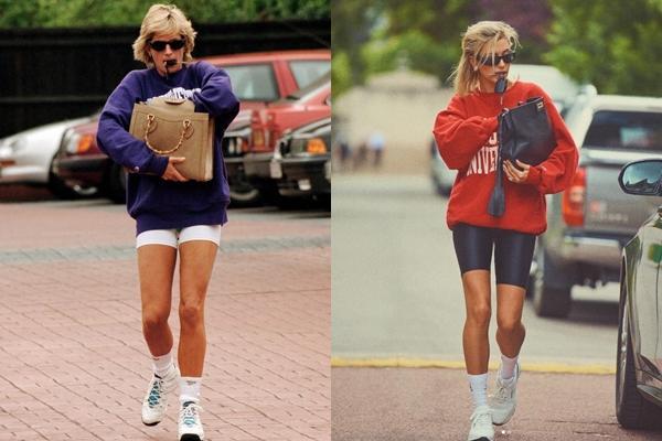 Hailey Bieber nhiều lần bị bắt gặp mặc đồ giống Công nương Diana-2