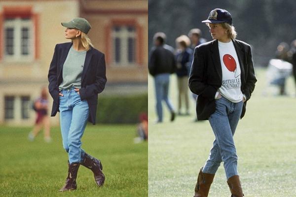 Hailey Bieber nhiều lần bị bắt gặp mặc đồ giống Công nương Diana-3
