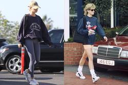 Hailey Bieber nhiều lần bị bắt gặp mặc đồ giống Công nương Diana