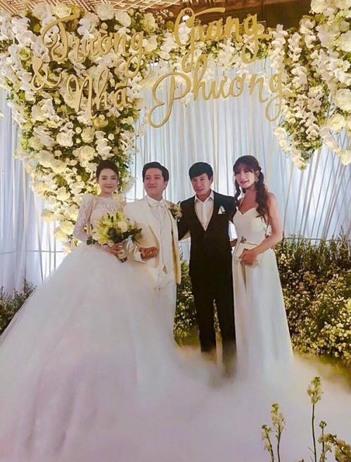 Sao Việt bị chê mặc lố lấn át cô dâu khi đi đám cưới-3