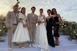 Sao Việt bị chê 'mặc lố' lấn át cô dâu khi đi đám cưới
