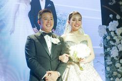 Cô dâu Giang Hồng Ngọc khuyên ông xã 'bớt nhậu' ngay trên lễ đường