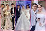 Bảo Thy thay váy, catwalk cùng Quang Vinh ở đám cưới-2