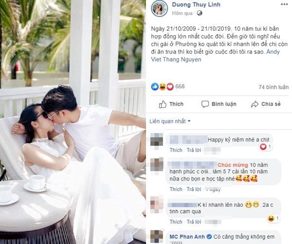MC Dương Thùy Linh tung ảnh nóng nhưng ngoại hình của ông xã doanh nhân mới chiếm sóng-5