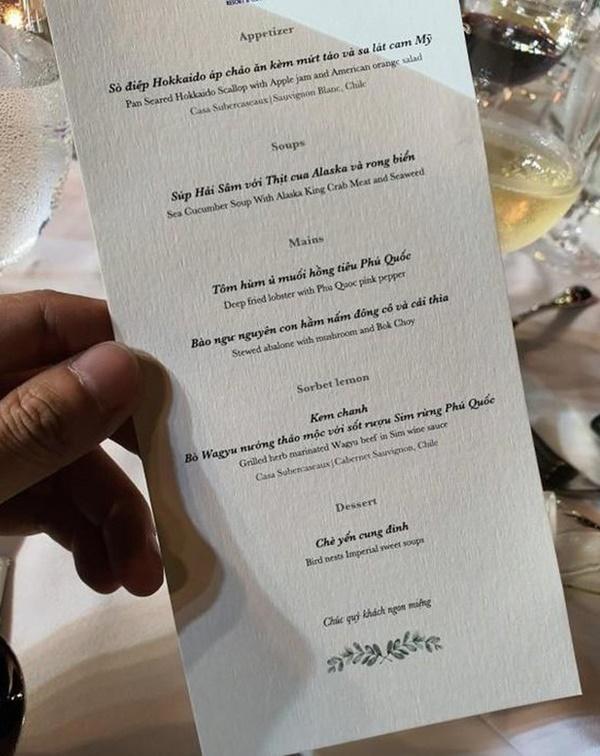 So thực đơn trong tiệc cưới của Cường Đô La, Trường Giang và sao Việt-4