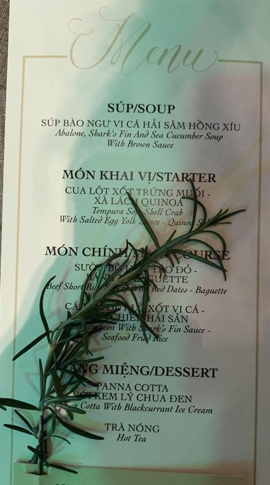 So thực đơn trong tiệc cưới của Cường Đô La, Trường Giang và sao Việt-6