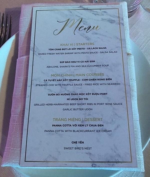 So thực đơn trong tiệc cưới của Cường Đô La, Trường Giang và sao Việt-8