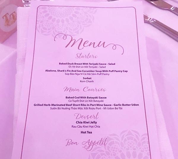 So thực đơn trong tiệc cưới của Cường Đô La, Trường Giang và sao Việt-16