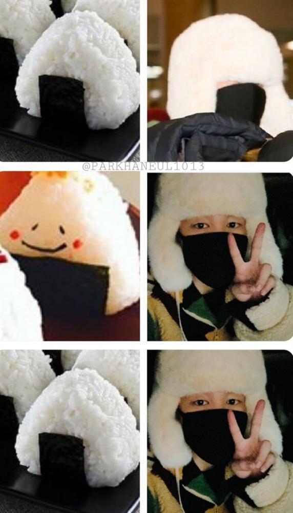 Jimin (BTS) được ví như cơm nắm khi đội mũ lông trắng ở sân bay-6
