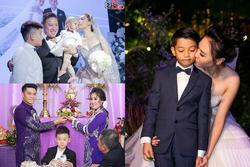 Những khoảnh khắc xuất sắc trong đám cưới sao Việt: Cùng nhau xum vầy con anh - con em - con chúng ta