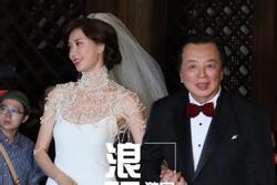 Lâm Chí Linh mặc váy cưới, sánh bước bên cha ở hôn lễ