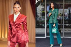 Bản tin Hoa hậu Hoàn vũ 17/11: Hoàng Thùy mặc suit đỏ chót vẫn khó 'chặt' suit xanh của hoa hậu Leila
