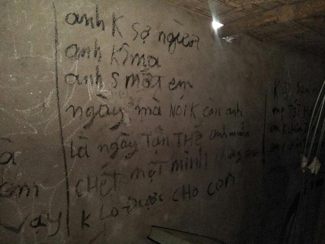 Vụ 3 bố con treo cổ tự tử ở Tuyên Quang: Ám ảnh những dòng chữ kín tường Anh cho em biết thế nào là đau khổ vô tận-4
