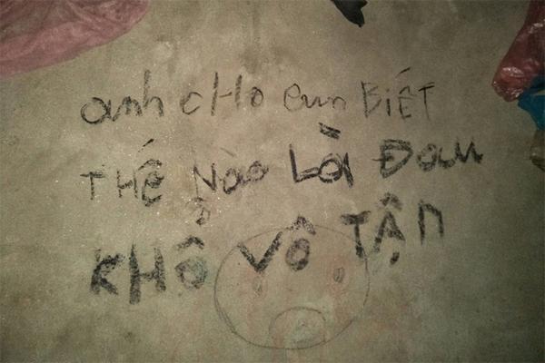 Vụ 3 bố con treo cổ tự tử ở Tuyên Quang: Ám ảnh những dòng chữ kín tường Anh cho em biết thế nào là đau khổ vô tận-6