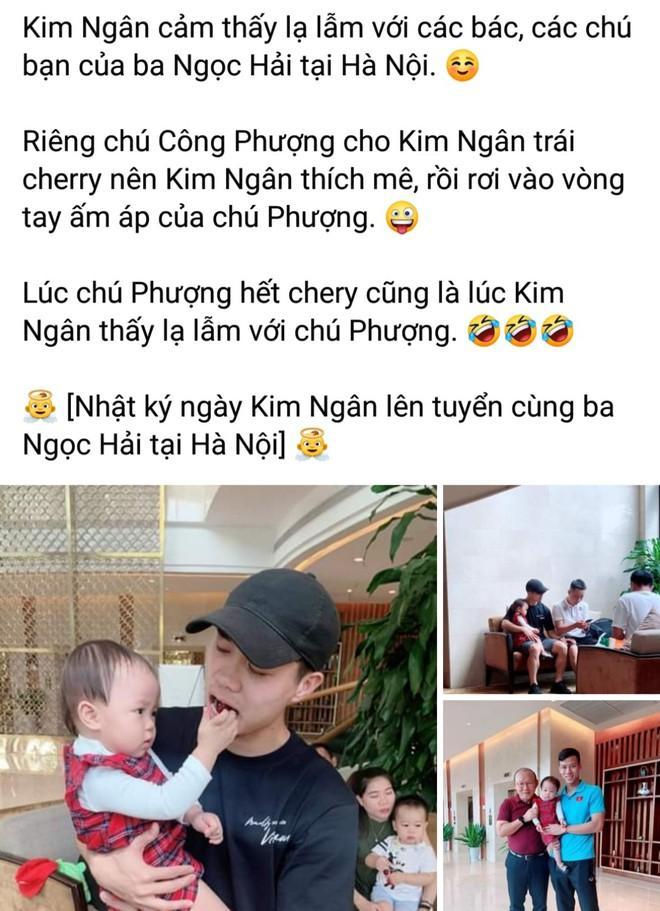 Fan ghen tỵ vì con gái Hải Quế được check-in cùng bố Park, Công Phượng-2