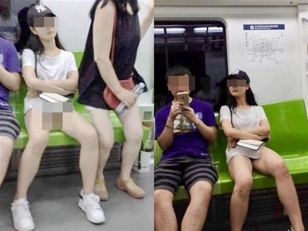 Tưởng cô gái diện mốt giấu quần, dân mạng tá hỏa khi nhận ra chỉ trùm áo mà không thèm mặc nội y-2