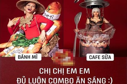 H'Hen Niê mang 'Bánh mì' dự thi Miss Universe, Hoàng Thùy sẵn sàng 'Cafe phin sữa đá' cho đủ combo ăn sáng