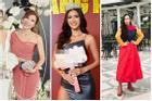 Minh Tú lộ lằn mỡ nách kém duyên - Trang Pháp bị chỉ trích vì 'chơi trội' khi đi dự đám cưới Giang Hồng Ngọc