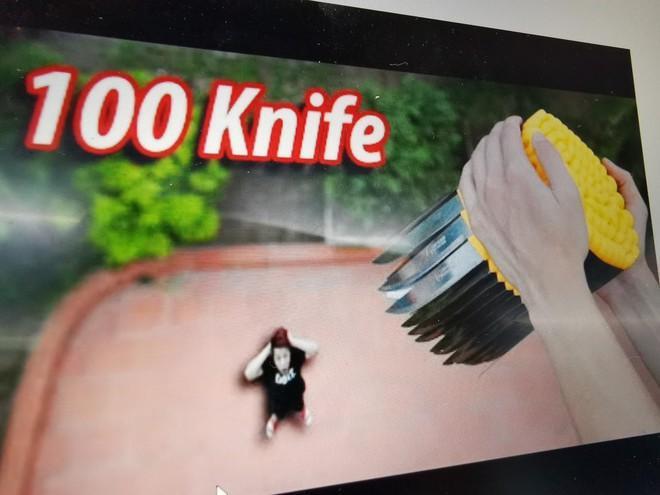 Sau video thả dao nguy hiểm, YouTuber NTN vẫn thách thức cộng đồng-1