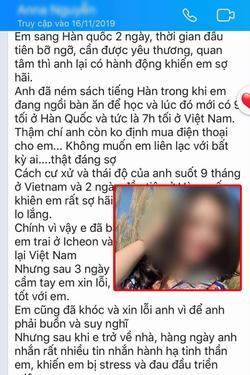 Xót xa những dòng tin nhắn cuối cùng nghi của cô dâu Việt gửi chồng Hàn Quốc trước khi bị sát hại rồi giấu xác