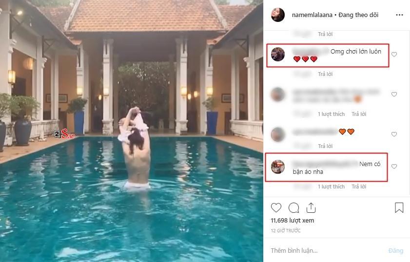 Nam Em khiến fan xịt máu vì màn cởi đồ cực kỳ nóng bỏng tại bể bơi-6