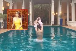 Nam Em khiến fan 'xịt máu' vì màn cởi đồ cực kỳ nóng bỏng tại bể bơi