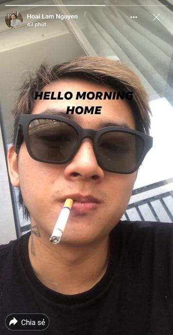 Hoài Lâm đăng ảnh hút thuốc lá, xuống sắc đầu tóc bù xù-1