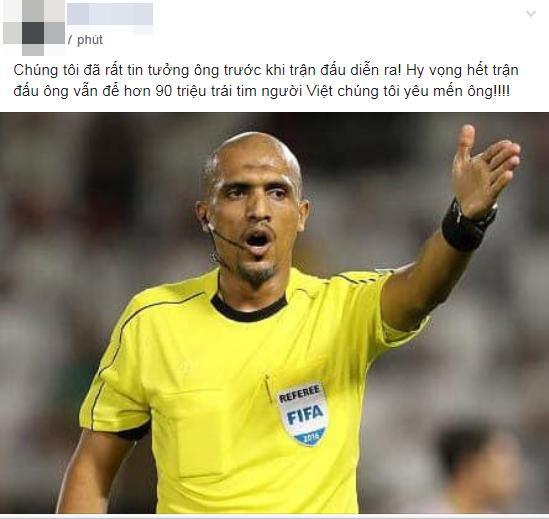 t.ừ ch.ối b.àn th.ắng của Bùi Tiến Dũng, fans Việt vào FB trọng tài Ahmed Alkaf thả ph.ẫn n.ộ-2