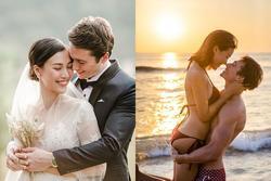Á hậu Hoàng Oanh chính thức khoe ảnh cưới nét căng bên hôn phu ngoại quốc