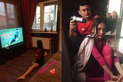 Xem em gái trổ tài xoạc chân, thủ môn Đặng Văn lâm có hành động chuẩn 'anh trai quốc dân'