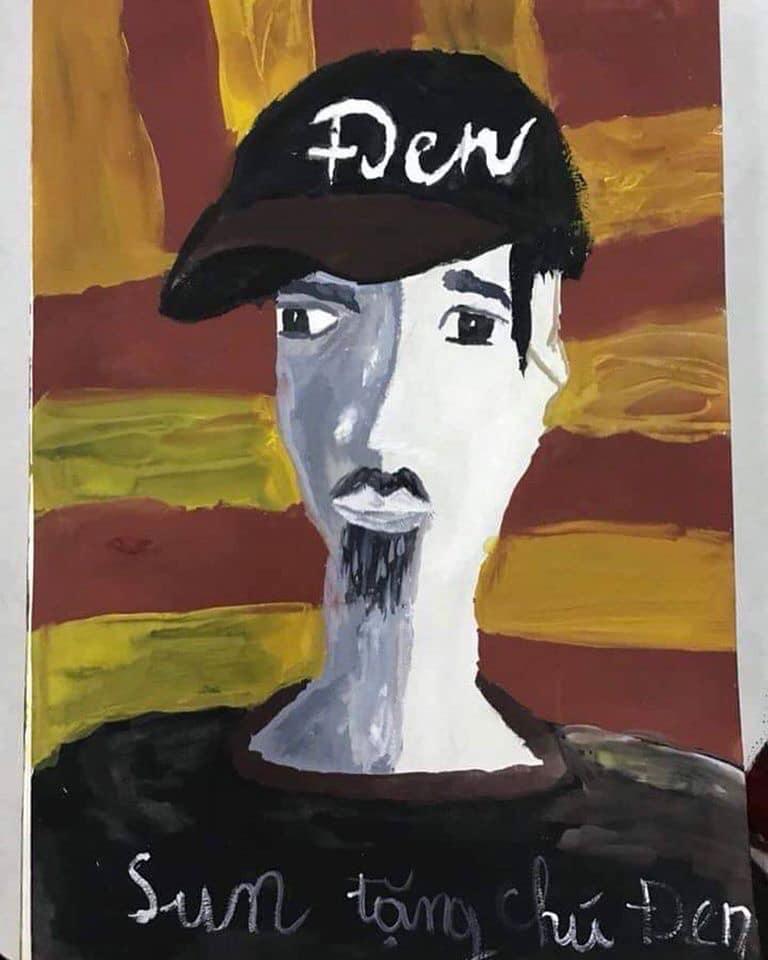 Câu chuyện fan nhí vẽ tranh tặng Đen Vâu và lời nhắn cưng xỉu của nam rapper-5