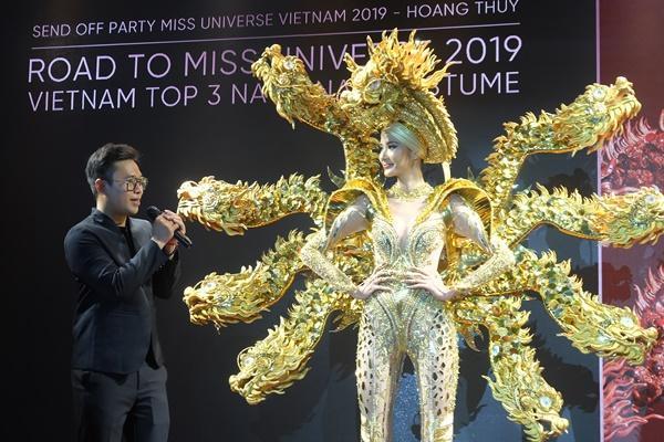 Cafe phin sữa đá trở thành quốc phục chính thức của Hoàng Thùy tại Miss Universe 2019-5
